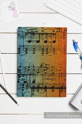 Calendar 2018 with jacquard fabric hard cover - size A4 - SYMPHONY RAINBOW DARK