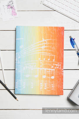 Calendar 2018 with jacquard fabric hard cover - size A4 - SYMPHONY RAINBOW LIGHT