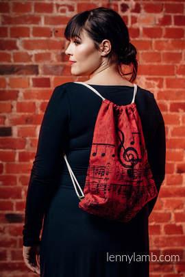 Turnbeutel, hergestellt vom gewebten Stoff (100% Baumwolle) - SYMPHONY FLAMENCO - Standard Größe 32cmx43cm