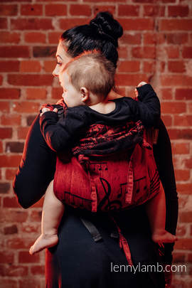 Lenny Buckle Onbuhimo, toddler size, jacquard weave (100% cotton) - Wrap conversion from SYMPHONY FLAMENCO