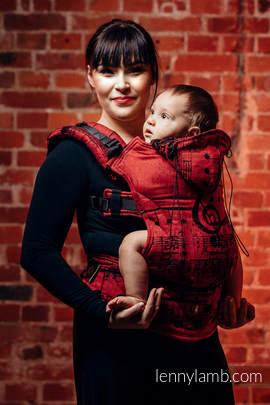 Nosidełko Ergonomiczne z tkaniny żakardowej 100% bawełna , Toddler Size, SYMFONIA FLAMENCO - Druga Generacja
