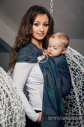 Ringsling, Pearl Weave (100% cotton) - with gathered shoulder - LITTLE PEARL - CHAMELEON (grade B)
