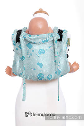 Lenny Buckle Onbuhimo, toddler size, jacquard weave (100% cotton) - Wrap conversion from COOKIES & DREAMS BY ALMA