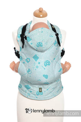 Ergonomic Carrier, Toddler Size, jacquard weave 100% cotton - wrap conversion from COOKIES & DREAMS BY ALMA - Second Generation
