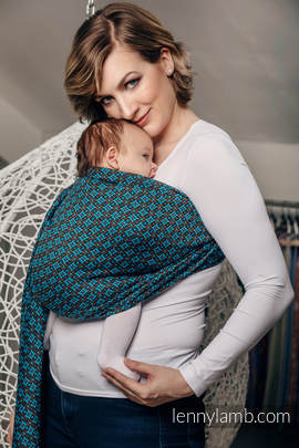 Ringsling, Jacquard Weave (100% cotton) - with gathered shoulder - CAMELOT (grade B)
