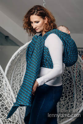 Baby Wrap, Jacquard Weave (100% cotton) - CAMELOT  - size XS
