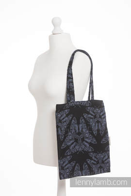 Shopping bag made of wrap fabric (96% cotton, 4% metallised yarn) - QUEEN OF THE NIGHT