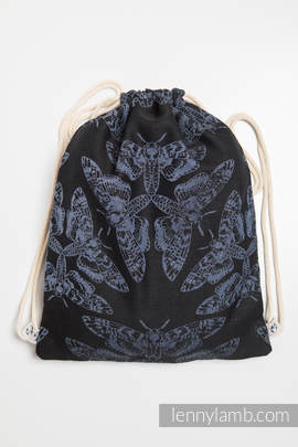 Sackpack made of wrap fabric (96% cotton, 4% metallised yarn) - QUEEN OF THE NIGHT - standard size 32cmx43cm