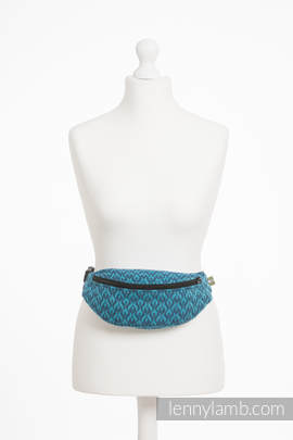 Waist Bag made of woven fabric, (100% cotton) - COULTER NAVY BLUE & TURQUOISE