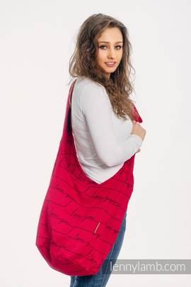 Hobo Tasche, hergestellt vom gewebten Stoff (100% Baumwolle) - I LOVE YOU