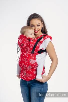 Nosidełko Ergonomiczne z tkaniny żakardowej 100% bawełna , Toddler Size, CZUŁE SŁÓWKA - Druga Generacja