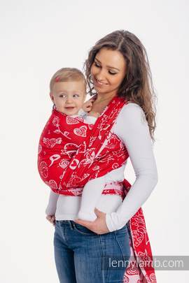 Baby Wrap, Jacquard Weave (100% cotton) - SWEET NOTHINGS - size S