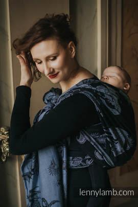 Baby Wrap, Jacquard Weave (74% cotton 26% silk) - MOON DRAGON - size L