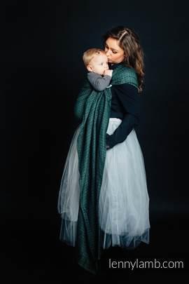 Żakardowa chusta kółkowa do noszenia dzieci, 60% Bawełna 28% Len 12% Jedwab Tussah - LITTLE LOVE - BLUSZCZ