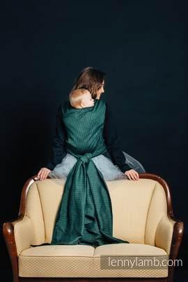 Żakardowa chusta do noszenia dzieci, 60% Bawełna 28% Len 12% Jedwab Tussah - LITTLE LOVE - BLUSZCZ - rozmiar XS