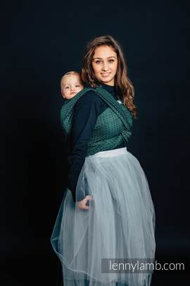 Żakardowa chusta do noszenia dzieci, 60% Bawełna 28% Len 12% Jedwab Tussah - LITTLE LOVE - BLUSZCZ - rozmiar S