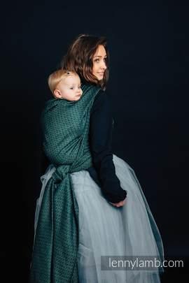 Żakardowa chusta do noszenia dzieci, 60% Bawełna 28% Len 12% Jedwab Tussah - LITTLE LOVE - BLUSZCZ - rozmiar M
