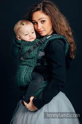 Nosidełko Ergonomiczne z tkaniny żakardowej 60% Bawełna 28% Len 12% Jedwab Tussah, Toddler Size, LITTLE LOVE - BLUSZCZ, Druga Generacja
