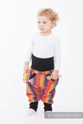LennyBaggy - size 86 - Rainbow Red Cotton & Black