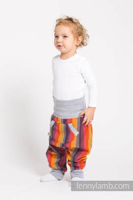 LennyBaggy - size 80 - Rainbow Red Cotton & Grey