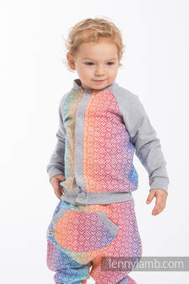Children sweatshirt LennyBomber - size 68 - Big Love - Rainbow & Grey
