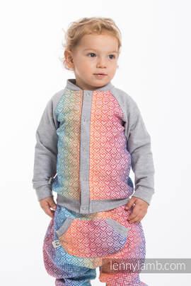 Children sweatshirt LennyBomber - size 80 - Big Love - Rainbow & Grey