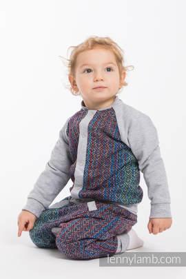 Children sweatshirt LennyBomber - size 92 - Big Love - Sapphire & Grey