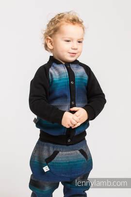 Children sweatshirt LennyBomber - size 86 - Little Herringbone Illusion