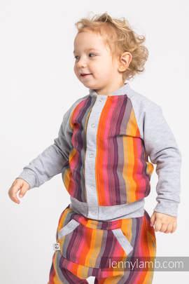 Children sweatshirt LennyBomber - size 92 - Rainbow Red Cotton & Grey