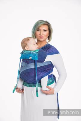 WRAP-TAI carrier Mini with hood/ jacquard twill / 60% cotton, 36% merino wool, 4% metallised yarn / SYMPHONY EUPHORIA