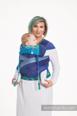 WRAP-TAI carrier Toddler with hood/ jacquard twill / 60% cotton, 36% merino wool, 4% metallised yarn / SYMPHONY EUPHORIA