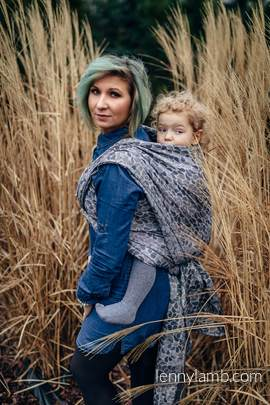 Baby Wrap, Jacquard Weave (100% cotton) - COLORS OF MYSTERY - size L (grade B)