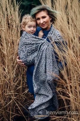 Żakardowa chusta kółkowa do noszenia dzieci, bawełna, ramię bez zakładek - KOLORY TAJEMNICY