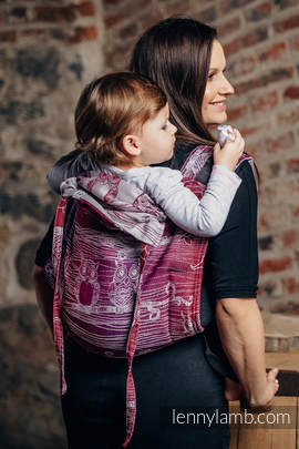 Lenny Buckle Onbuhimo, toddler size, jacquard weave (100% cotton) - Wrap conversion from BUBO OWLS - LOST IN BORDEAUX