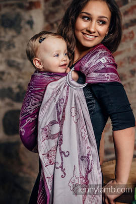 Ringsling, Jacquard Weave (100% cotton) - BUBO OWLS - LOST IN BORDEAUX