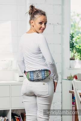 Waist Bag made of woven fabric, (100% cotton) - POSITIVE VIBES