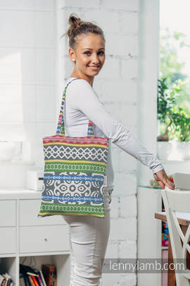Shopping bag made of wrap fabric (100% cotton) - POSITIVE VIBES