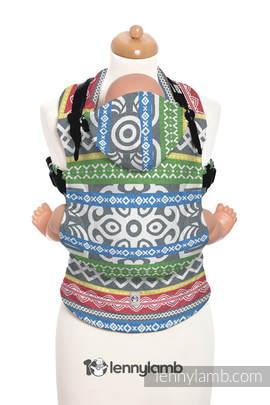 Ergonomic Carrier, Baby Size, jacquard weave 100% cotton - POSITIVE VIBES - Second Generation
