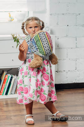 Doll Sling, Jacquard Weave, 100% cotton - POSITIVE VIBES