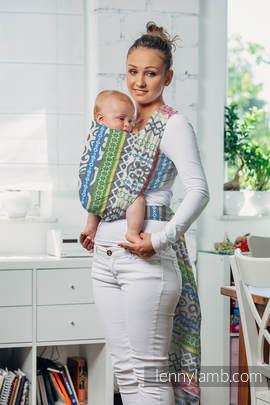Żakardowa chusta do noszenia dzieci, bawełna - POSITIVE VIBES - rozmiar XS
