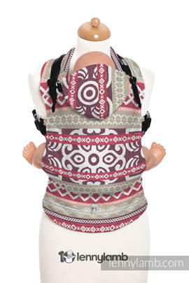 Ergonomic Carrier, Baby Size, jacquard weave 100% cotton - GOOD VIBES - Second Generation