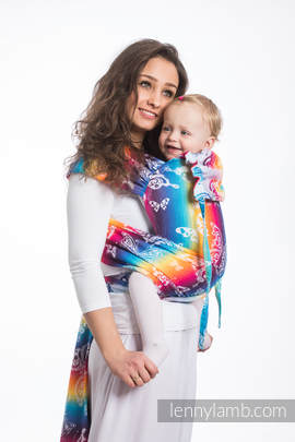 WRAP-TAI carrier Toddler with hood/ jacquard twill / 100% cotton / BUTTERFLY RAINBOW LIGHT