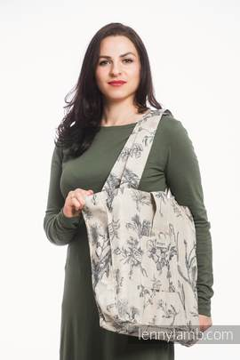 Shoulder bag made of wrap fabric (100% cotton) - HERBARIUM - standard size 37cmx37cm