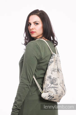 Sackpack made of wrap fabric (100% cotton) - HERBARIUM - standard size 32cmx43cm
