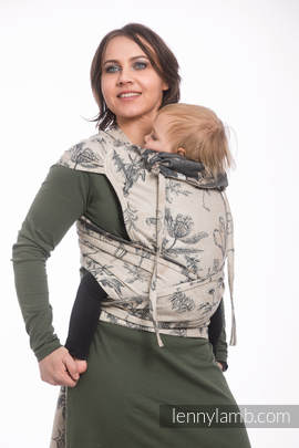 WRAP-TAI carrier Toddler with hood/ jacquard twill / 100% cotton / HERBARIUM