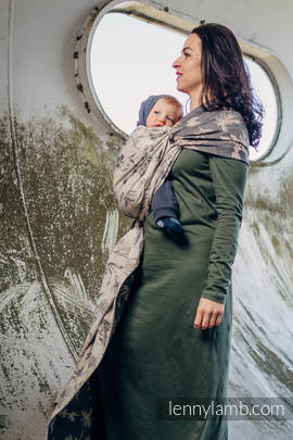 Baby Wrap, Jacquard Weave (100% cotton) - HERBARIUM - size M