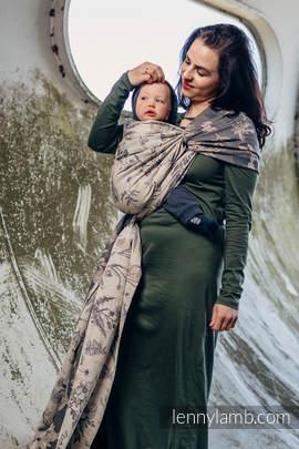 Baby Wrap, Jacquard Weave (100% cotton) - HERBARIUM - size XL