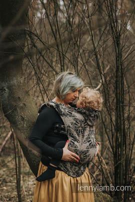 Nosidełko Ergonomiczne z tkaniny żakardowej 65% Bawełna 35% Jedwab, Baby Size, QUEEN OF THE NIGHT - PAMINA, Druga Generacja