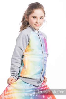 LennyBomber - size 134 - Rainbow Lace & Grey