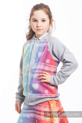 LennyBomber - size 122 - Rainbow Lace & Grey